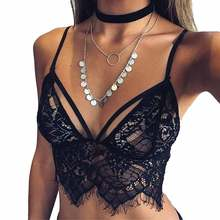 Women Lace Bralette Sexy Bra Fashion Unlined Brassiere See through Crop Top Sexy Intimates Underwear White Black Bras For Women(China)