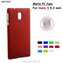 "For Nokia 5 Android Phone 2017 5.2"" New Slim Matte Hard Plastic Case Candy Color Frosted Anti-fingerprint PC Cover"