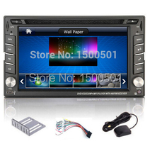 "New 6.2"" Car dvd player Touch Screen 2 Din Universal for hyundai audio stereo camera TV GPS Bluetooth AM/ FM Stereo + Free Map"