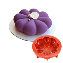 8 Petals Circular Wine Red Silicone Mousse Pan Cake Mold Baking Decorating Tools Non Stick 1000ML(China)