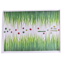 DIY Removable Art Skirting Vinyl Wall Stickers Baseboard Green Grass Ladybug Decor Living Room Bedroom Flower Home Decal