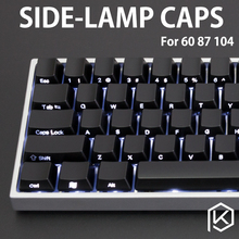 Side-Lit ABS Keycap Set side light abs laser light through oem profile 104 key standard ANSI Side etched shine through legends