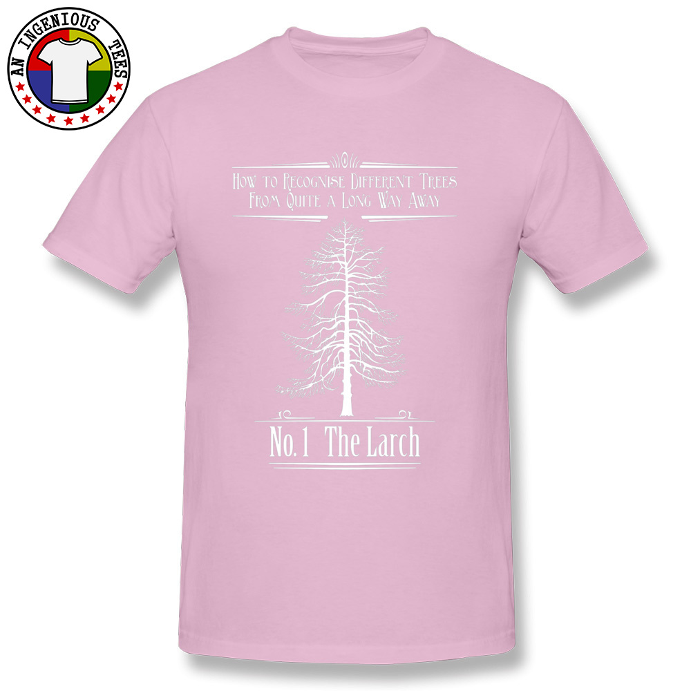 Tops T Shirt No. 1 The Larch 3301 T Shirts Autumn Funky Customized Short Sleeve 100% Cotton O-Neck Men T-Shirt Customized No. 1 The Larch 3301 pink