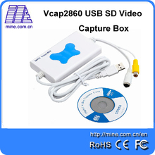 Vcap2860 1 Channel SD USB2.0 Capture Card S-Video+Composite Input USB SD Video Capture Box