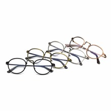 Fashion metal round frame glasses Men and women generally no strength glasses Retro glasses | Clear glasses