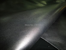 High Level Nappa smooth Black Eco-dyed Genuine cowhide Skin Leather Fabric 30SF/LOT(China)