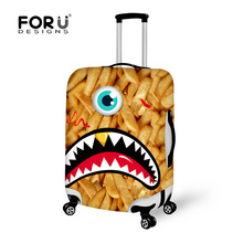 FORUDESIGNS 2017 New Durable Luggage Protective Cover Animal 3D Printing Travel Luggage Cover Suitcase Protective Cover Case(China)