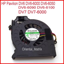 Free Shipping Brand NEW MF60120V1-C181-S9A AD6505HX-EEB For HP Pavilion DV6 DV6-6000 DV6-6050 DV6-6090 DV6-6100 CPU Cooler Fan