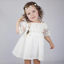 Brandwen 2017 Newest Summer Cute Lace Baby Girls Dress Korean Style Trendy And Retro Princess Clothes Kids Children's Costume
