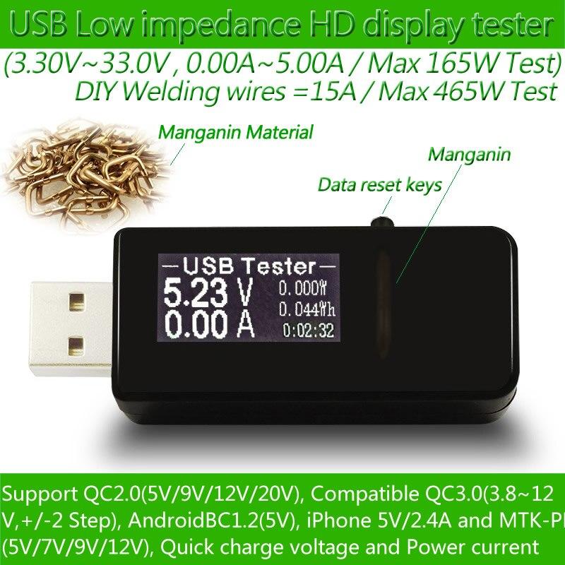 USB tester DC Digital voltmeter amperimetro current voltage meter amp volt ammeter detector power bank charger indicator<br><br>Aliexpress