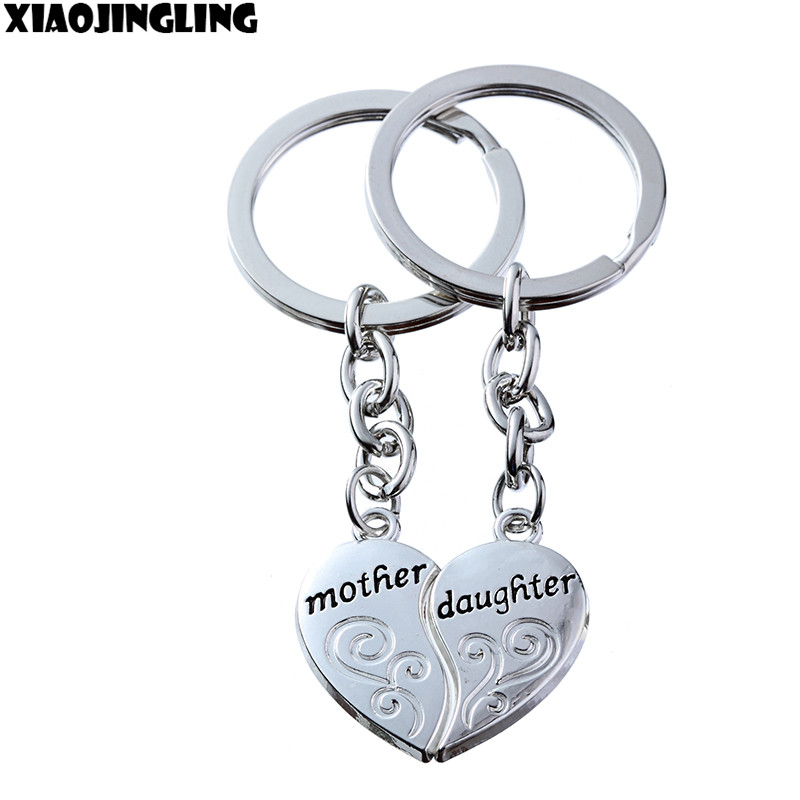 XIAOJINGLING 2pcs broken heart family jewelry mother daughter gift car key chain man keyring accessory chaveiro innovative Items(China (Mainland))