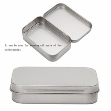 Small Metal Tin Silver Flip Storage Box Case Organizer For Money Coin Candy Key