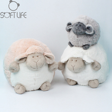 Sweet Sheep Cartoon Plush Dolls Toys Kids Stuffed Animals Spherical Mimi Sheep Sit High 25cm/15cm Soft Toys Chouchou Dolls Toys