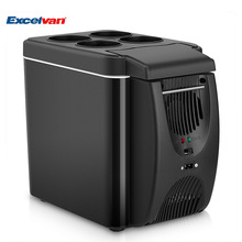 Mini Car 6L Fridge No Compressor 2in1 Universal Freezer Cooler Warmer Heating Food Electric Portable Icebox Travel Refrigerator