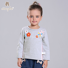 Simyke Girls Long Sleeve Tee 2017New Autumn Children's Cartoon Sweatshirt Toddler Top Kids Brand Clothing Child Clothes D3323