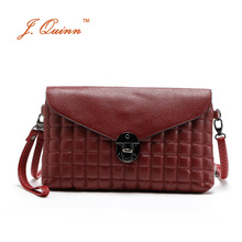 J.Quinn 2016 New Diamond Lattice Small Single Womens PU Leather Crossbody Bags Shoulder Handbag Burgundy Hot Pink Lady Cheap Bag