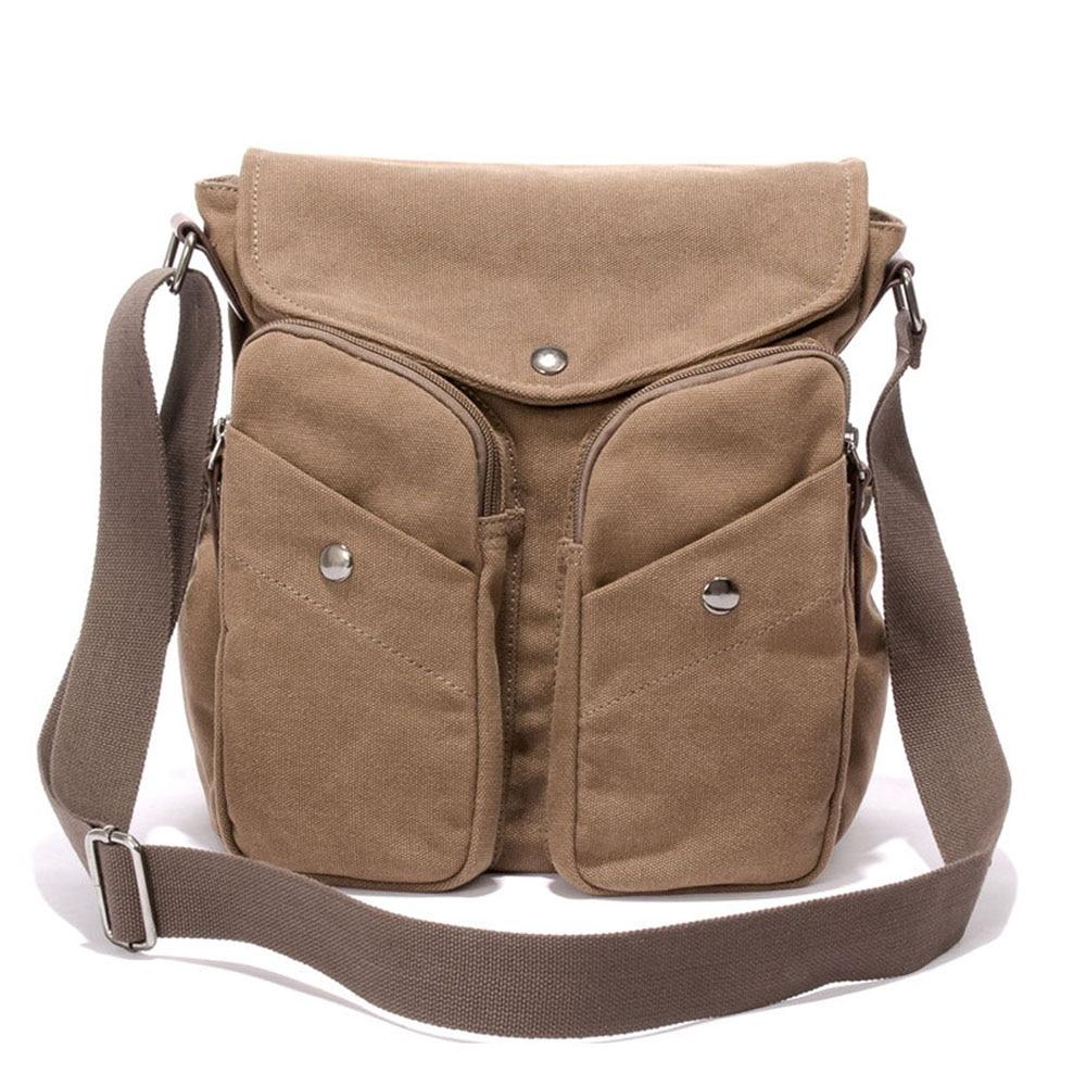 Retro Soft Men Canvas Shoulder Messenger Bag Leisure Travel Crossbody Pack for Student Office Staff<br><br>Aliexpress
