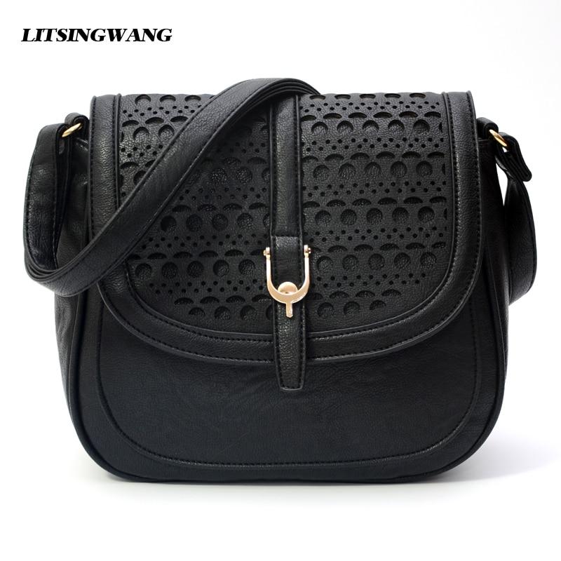 LITSINGWANG new crossbody bags for women hollow out pu shoulder handbags bolsas femininas bag female messenger bag for women<br>