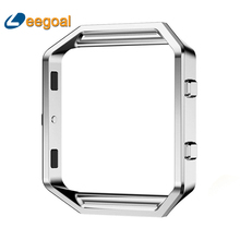 2017 Wearable Device Luxury Fashion Stainless Steel Holder Shell Metal Frame For Fitbit Blaze Smart Watch Wristband Accessory(China)