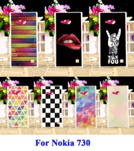 Hard Plastic and Soft TPU Phone Skin Cover For Nokia Lumia 730 N730 735 Case DIY Painted Specially Cool Cute Stylish Phone Parts