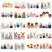 Sylvanian Families Dollhouse Furry Animal Figure Family Set Rabbit/Bear/Dogs/Squirrels/Cat/Sheep/Monkey New(China)