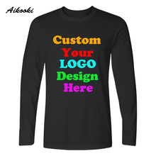 Custom Long t shirt Logo Text Photo Print Men Women Kid Personalized Team Family Customized T-shirt Promotion AD Apparel Top Tee