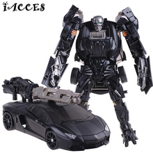 Cool Plastic ABS + Alloy Transformation Robot Car Toys Anime Brinquedos Movie 4 Action Figures Classic Model Toys Boys Gifts(China)
