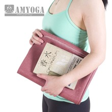easy to fold anti-slding super thin travel yoga mat in rubber foam