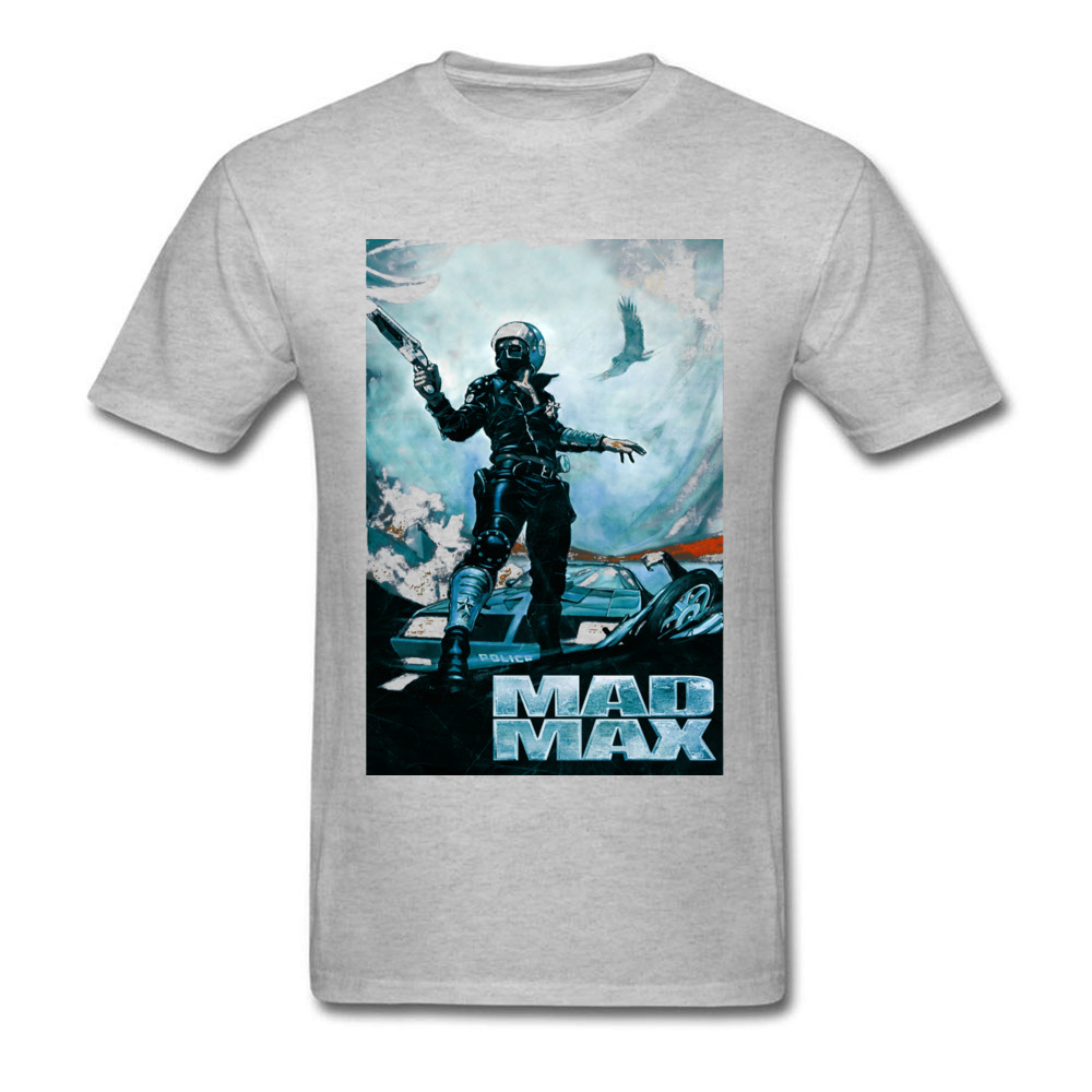 Prevalent Mad Max 23701 Short Sleeve T Shirt April FOOL DAY Crew Neck Pure Cotton Tops Shirts for Male T Shirt Party Mad Max 23701 grey