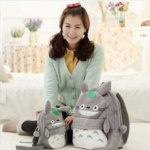 New Arriving Totoro Plush Backpack Cute Soft School Bag for Children Cartoon Bag for Kids Boys Girls Gifts(China)