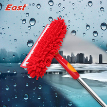 East Window Glass Squeegee Scraper Rubber Glass Brush Window Cleaner for Home Cleaning