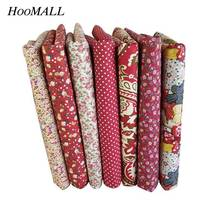 Hoomall Floral Print Cotton Fabric DIY Handmade Fabrics For Patchwork Sewing Home Decor Needlework Accessories 50x50cm 1PC