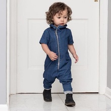 Newborn Baby Clothes Fashion Denim Newborn Infant Kids Baby Boys Girls Bodysuit Jumpsuit Clothes Outfits Warm Autumn Clothing