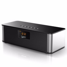 Alarm Clock Portable Wireless Bluetooth Speaker Big Power 10w Subwoofer Hifi Speakers With Mic FM Radio for Mobile Phone(China)