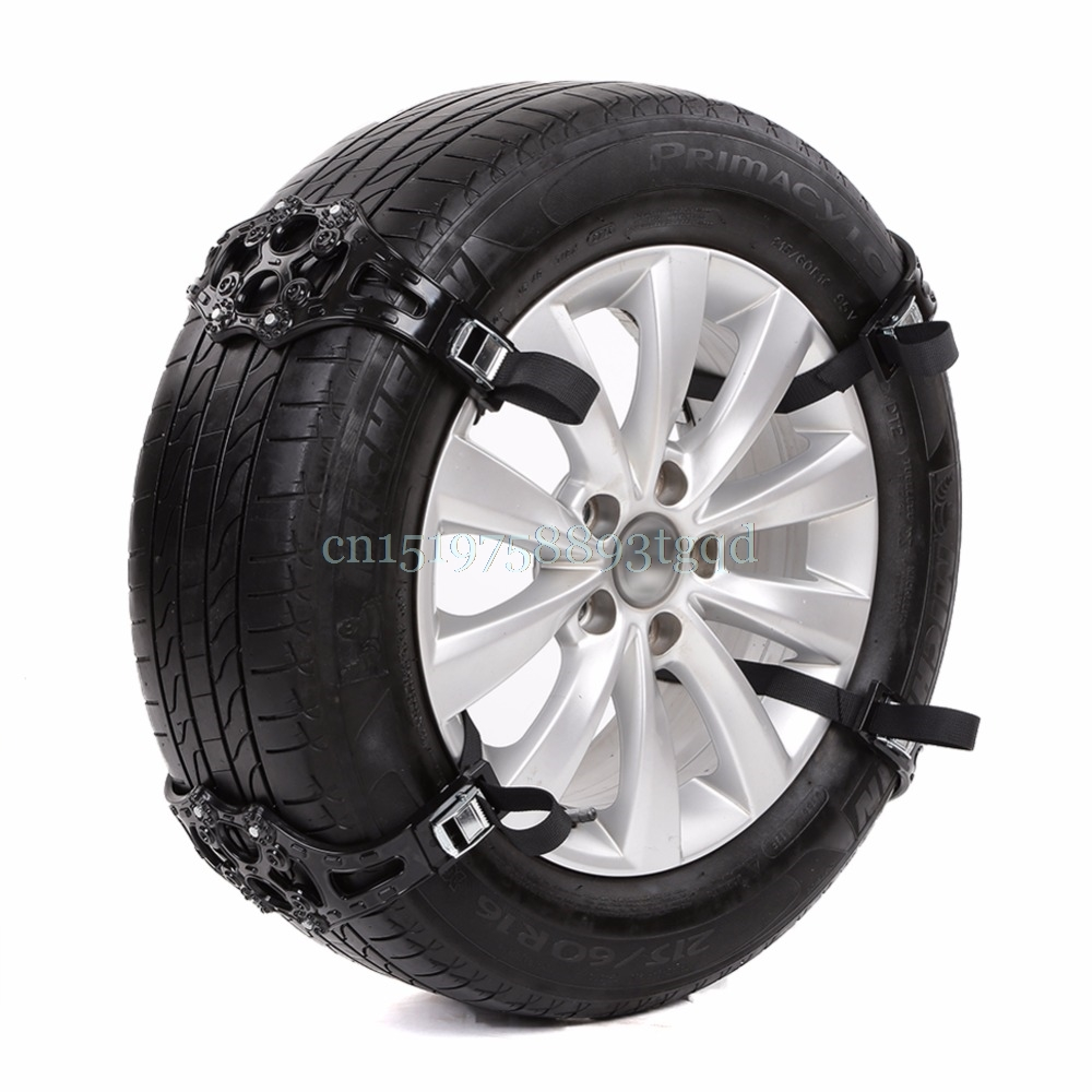 1PC Easy Install Simple Winter Truck Car Snow Chain Black Tire Anti-skid Belt#T518#
