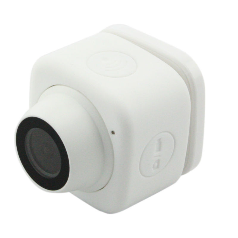 White color Camcorder WIFI Selfie Camera with wide angle Lens for Shot /Film by Operating APP on Mobile Phone<br>