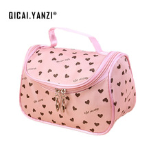 2017 New Zipper Cosmetic Bag Lady Travel Organizer Accessory Toiletry Cosmetic Make Up Holder Case Bag Pouch Gift Free S386
