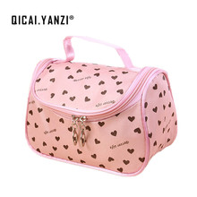 2017 New Zipper Cosmetic Bag Lady Travel Organizer Accessory Toiletry Cosmetic Make Up Holder Case Bag Pouch Gift Free S386(China)