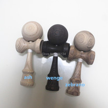 Factory production of high quality Purple heart, ash, chicken wing, zebrano, rose, cherry wood kendama toy size 18 cm different
