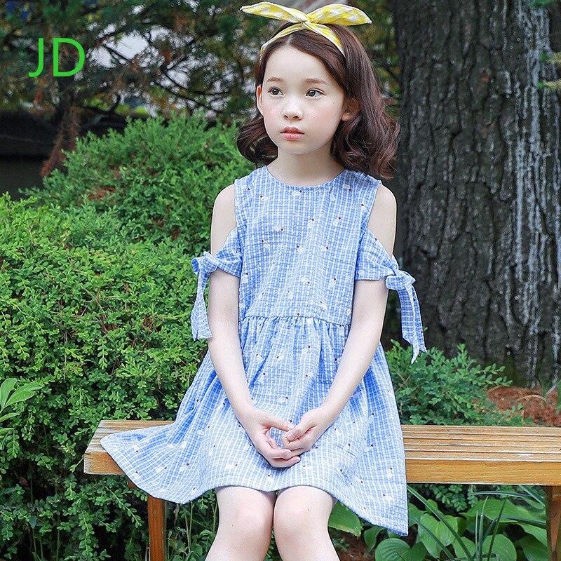 The New Girl Sleeveless Dress Princess Dress Children Lattice Stitching Casual Dress of The Girls<br>