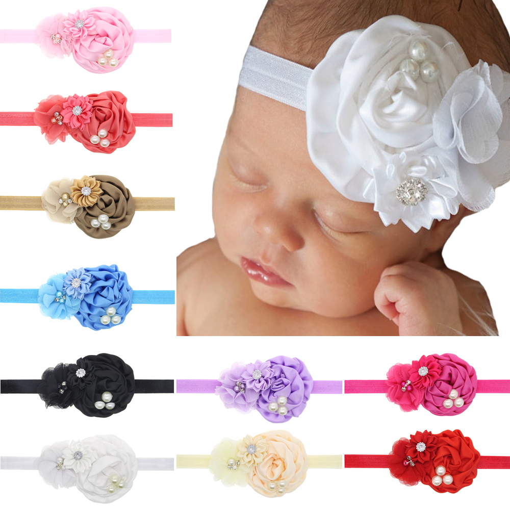 2016 Sew drill combination polygon flower rose headband baby headband children elastic headband hair accessories<br><br>Aliexpress