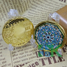1/3pcs/lot New Gift Muslim, Islam, Ramadan Kareem, gold plated token coin, 40 mm souvenir Coins for Sale(China)