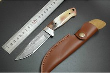 Handmade forged Combat Camping Practical Portable Fixed blade knife Damascus steel 58 HRC hunting knife Outdoor Survival knives(China)