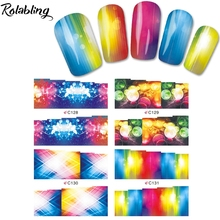 2017 New Arrival Different And Colorful Bubble Series Water Transfer Nail Sticker Fingernails Decorations Paper Transfer