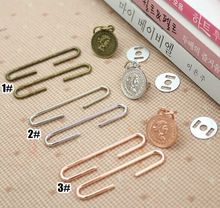 New Design Antique Bronze  Silver  rose Golden DIY Metal Purse Frames C Shape Coin bag accessory, 100sets/lot wholesale