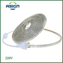 LED Strip AC 220V Waterproof SMD5050 Led Tape Flexible Strip 60 Leds/Meter Outdoor Garden Lighting With EU Plug 1M/2M/5M/10M/20M