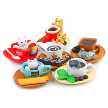 6Pcs/Lot Lovely PVC Kitten Cat Action Figure Toys DIY Home Decor Children Collect Toys Birthday Gifts(China)