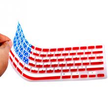 US Popular Covering American Flag Keyboard Skin Silicone Protector Keyboards Cover Film Guard for Apple Macbook air13/15/pro17