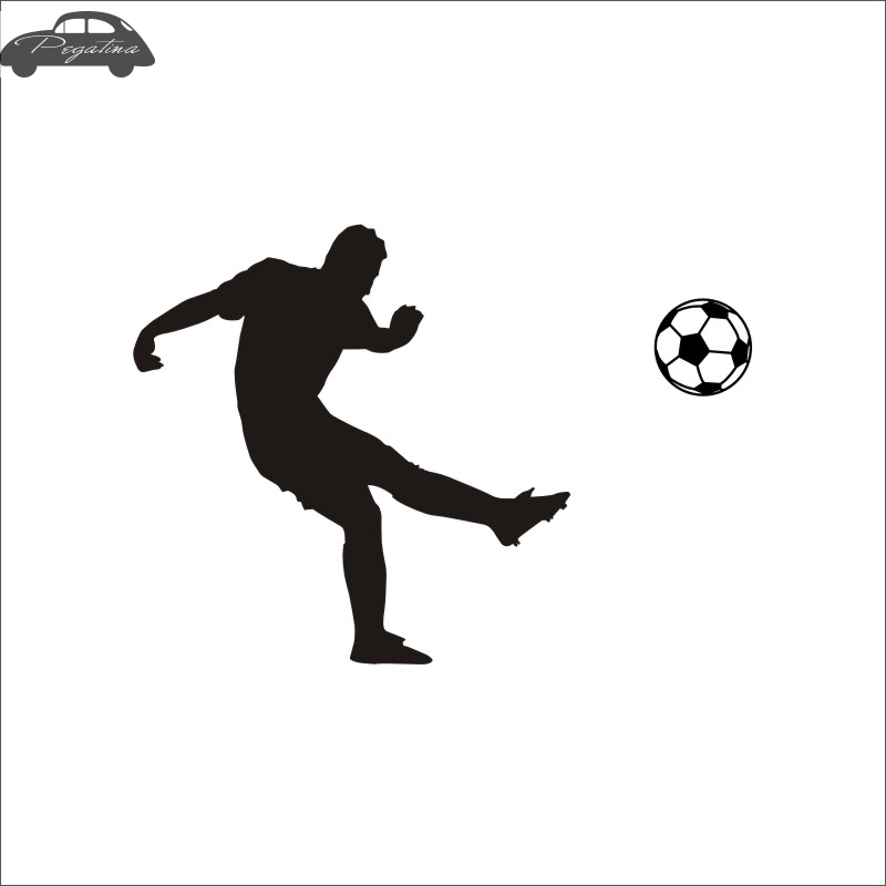 Football Player Sticker Sports Soccer Car Decal Helmets Kids Room Name Posters Vinyl Wall Decals Football Sticker