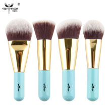 High Quality 4 pcs Kabuki Brushes Synthetic Hair Make Up Brush Foundation Makeup Brush Set Travel Kit Y002(China)